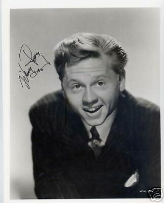 FILM LEGEND in person signed autograph 10x8 - MICKEY ROONEY