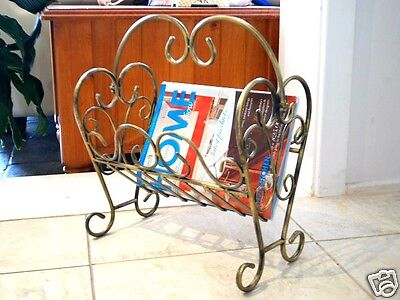 Wrought Iron Magazine Rack Elegant French Style D 001