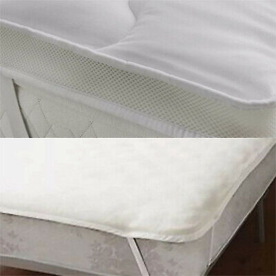 Soft As Down Microfibre Quilted Mattress Topper Enhancer Double / King Superking