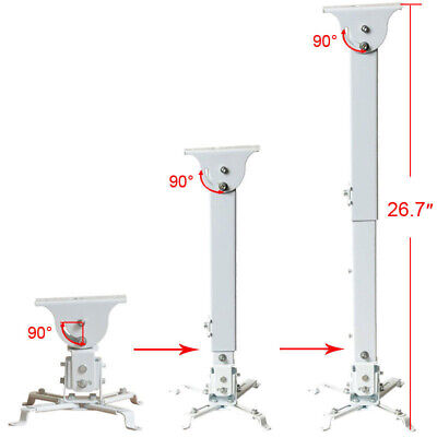 Adjustable LCD DLP Projector Ceiling Mount Bracket Tilting Swivel Universal CZN