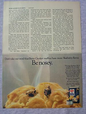 1970 Magazine Advertisement Page Betty Crocker Wild Blueberry Muffin Mix Nice Ad