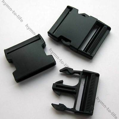 "2/10 pcs Huge Strong side release Black Buckle Heavy duty for 2"" Belt M017-50"