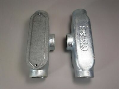 """Lot of (2) Gould 2"""" Electric Conduit Tees -New Old Stock"""
