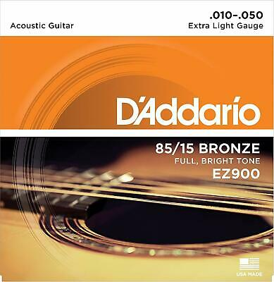 D'Addario EZ900 Extra Light Acoustic Guitar Strings 10 - 50