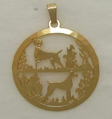Vizsla Jewelry Gold Pendant by Touchstone