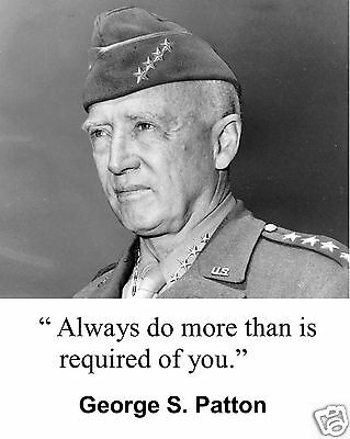 """General George S. Patton WWII  """" always do more"""" Quote 8 x 10 Photo Picture #ad1"""