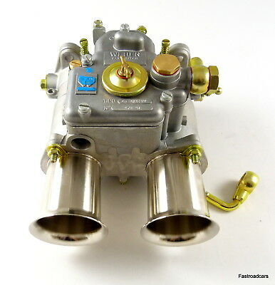 Genuine Weber 45 Dcoe 9 Carburettor With Brass Float & Fuel Union