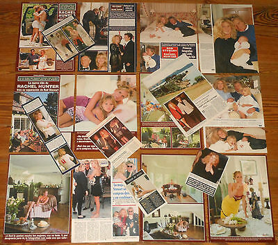 RACHEL HUNTER spanish clippings photos sexy top model pictures Rod Stewart mags
