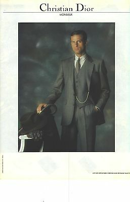 PUBLICITE ADVERTISING 1982 DIOR haute couture homme costume - EUR 3 ... bbb4875e8be