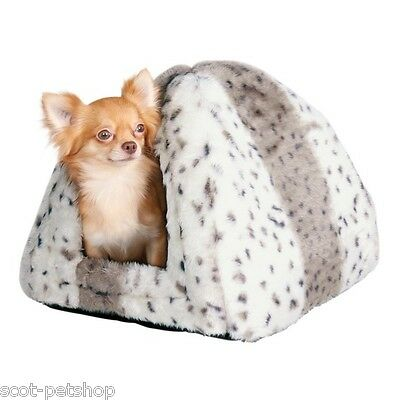 NEW PLUSH LUXURY Cuddly Cave Bed For Cats Kittens Small Dogs Leila 3714