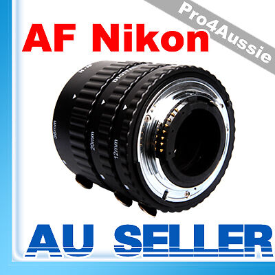 For Nikon AF  METAL Macro Extension Tube Ring Set Closeup Close Up Photography