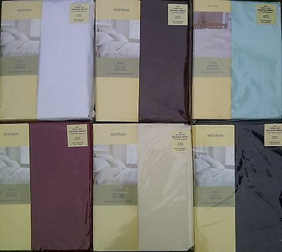 Higher 180 Thread Count Percale Double Size Fitted Valance Sheet 6 Colour Choice