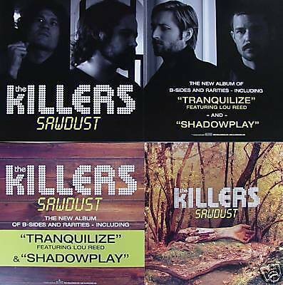 THE KILLERS Sawdust  RARE New PROMO 2 Sided Poster BRANDON FLOWERS Dave Keuning