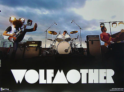 WOLFMOTHER New RARE PROMO Poster ANDREW STOCKDALE Chris Ross RARE  Myles Heskett