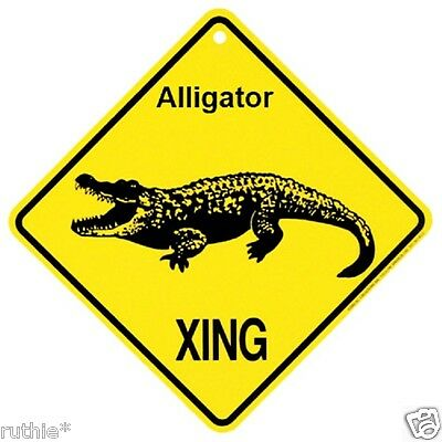 Alligator  Crossing Xing Sign New