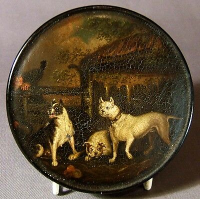 FINE E.19th. CENTURY  BRUNSWICK HAND PAINTED SNUFF BOX