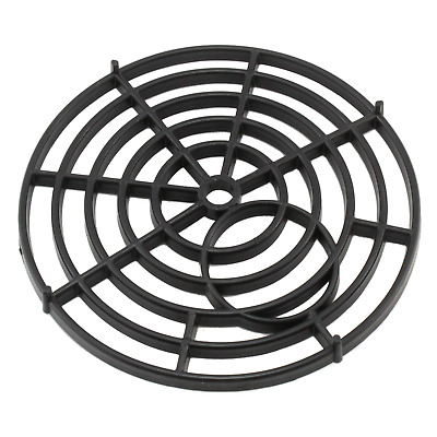 """Black Plastic Gully Grid Grate Cover Round 7"""" 175mm Drain Litter Blockage Covers"""