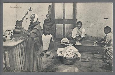CHILE ~ NATIVE WOMEN WASHING CLOTHES ~ c 1910's