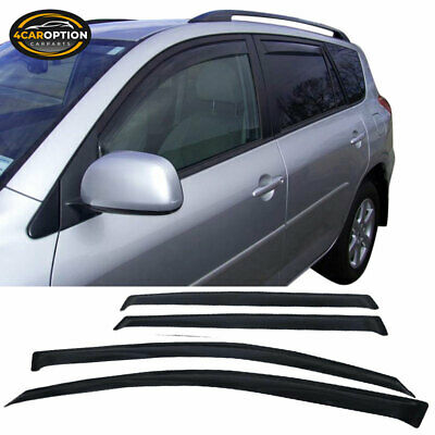 For 06-12 Toyota RAV4 Acrylic Window Visors 4Pc Set