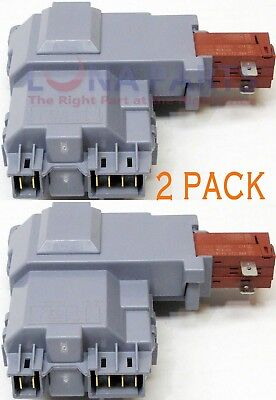 2 PACK 131763202 Washer Door Lock Switch Assembly for Frigidaire 131763256
