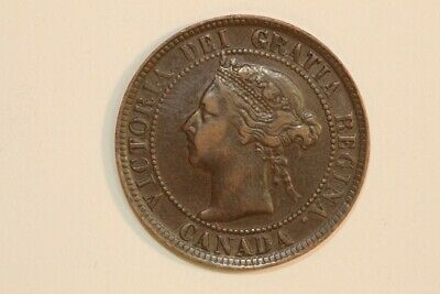 Enchanting 1895 Canada One Cent Coin KM#7 - About Unc. (CA587)