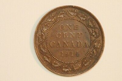 Good-looking 1914 Canada One Cent Bronze KM#21 Coin - Extra Fine (CA579)