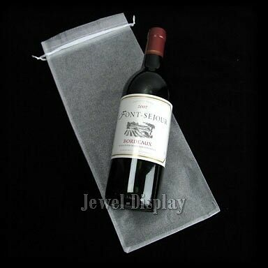 100 White Jewellery Bag Organza Party Gift Pouches Wine Bottle Bags 15 x 37 cm