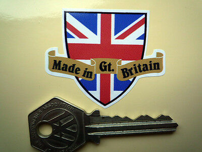 Made in GREAT BRITAIN Shield & Scroll Car Motorcycle STICKER GB UK Triumph BSA