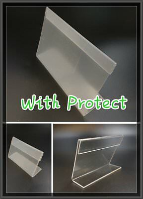 6Pcs Clear Acrylic Sign Display Holder Price Label Stand 70x100mm