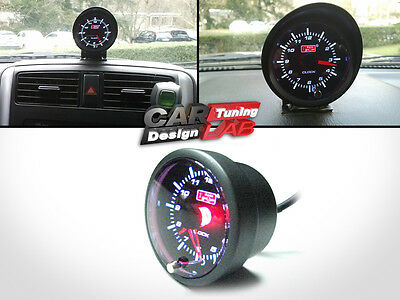52mm Car Auto Gauge Meter WHITE/RED LED CLOCK TIME