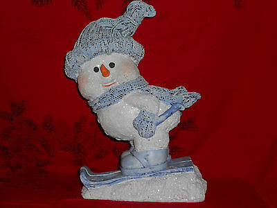 """Snowman Skier 12"""" Winter Collectible World Bazzars New Great Christmas Gift"""