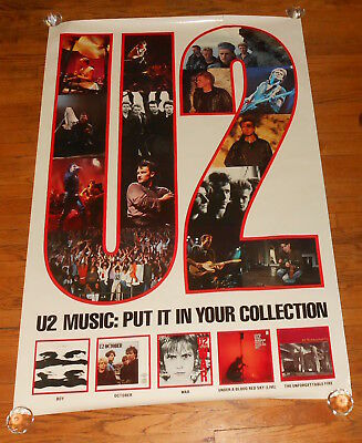 U2 Music: Put it in Your Collection Discography CD Promo Poster 36x36