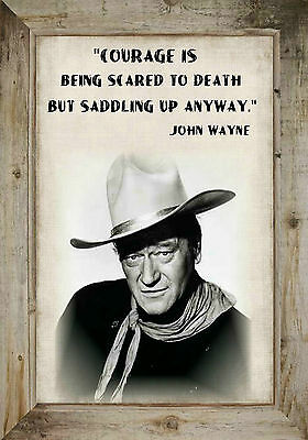 John Wayne Courage Is Being Scared To Death Mens T Shirt Famous