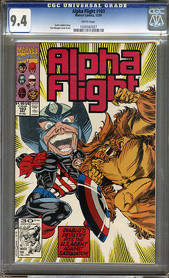 Alpha Flight #103 CGC 9.4 NM WHITE Pages Universal