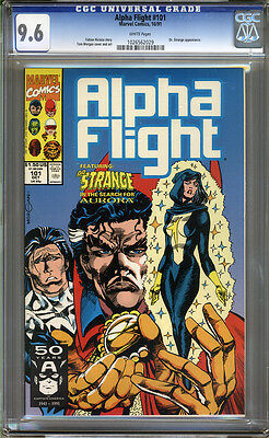 Alpha Flight #101 CGC 9.6 NM+ WHITE Pages Universal