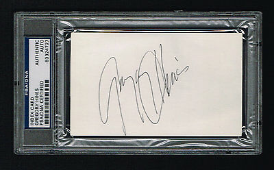 Gregory Hines signed autograph auto 3x5 index card PSA/DNA Slabbed