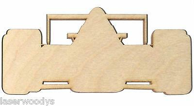 Indy Race Car Unfinished Wood Shape Cut Out Crafts IRC5265 Lindahl Woodcrafts