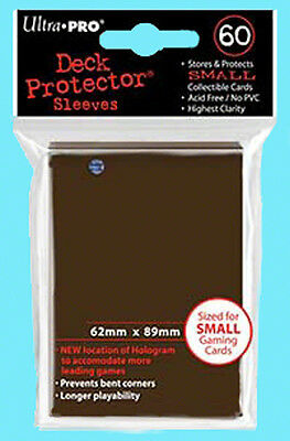 60 Ultra Pro DECK PROTECTOR Small Size BROWN Card Sleeves 1 Pack Yugioh 84028