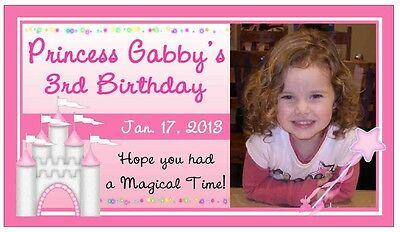 12 PRINCESS BIRTHDAY PARTY FAVORS PHOTO MAGNETS