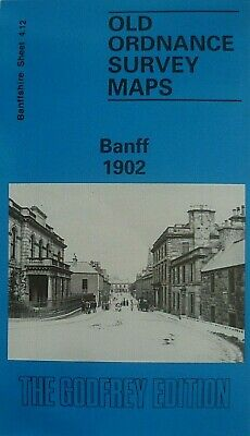 Old Ordnance Survey Maps Historic Town of Banff Scotland 1902 Godfrey Edition