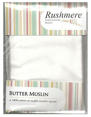 Rushmere Cloths Butter Muslin For Jam Preserves 100% Cotton Size 90 x 75cm