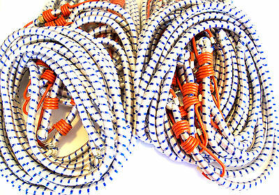 """6pcs 72"""" AND 6pcs 48"""" LONG HEAVY DUTY BUNGEE CORD TIE DOWN CORDS SUPER THICK"""