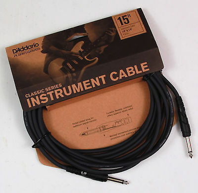 Planet Waves 15' Classic Series Guitar Lead. Lifetime Guarantee.P/No:- PW CGT 15