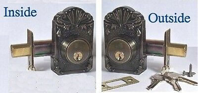 DeadBolt a Victorian Reproduction with Modern Hardware-Keyed Both Sides & 3 Keys