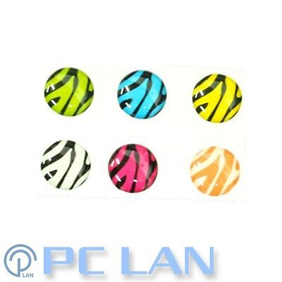 6 PCS Zebra Home Button Sticker for iPad 1/2/3/4 + Bonus Set