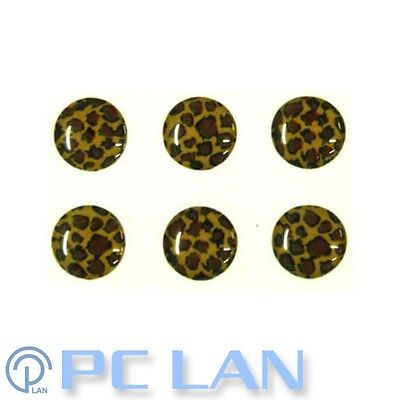 6 PCS Leopard Patterns Home Button Sticker for iPad 1/2/3/4 + Bonus Set