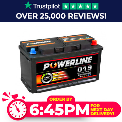 Pline 019 Car / Van Battery fits Merc A B C CL CLS CLK E G M ML S SL SLK V Class