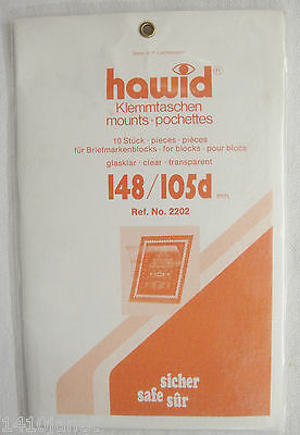 Hawid Clear Stamp Mounts 148/105d 10 Mounts Top Opening (m132)