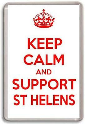 KEEP CALM AND SUPPORT WARRIORS WIGAN WARRIORS RUGBY LEAGUE TEAM Fridge Magnet
