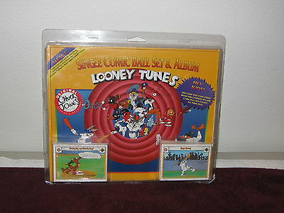 Nib 1991 Upper Deck Single Comic Ball Set & Album Looney Tunes